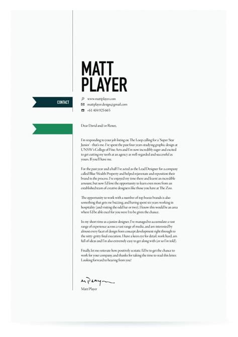 Creative Cover Letters by 25 Best Ideas About Cover Letter Design On Creative Cv Simple Cover Letter And