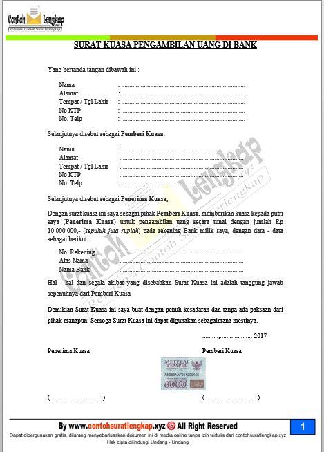 contoh format sms banking bni ke bca recomended contoh surat kuasa pengambilan uang di bank doc