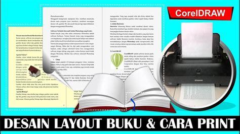 layout buku coreldraw cara layout buat buku dan cara cetak dengan coreldraw