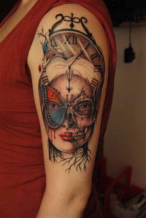 surreal tattoo beautiful skull tattoos for search