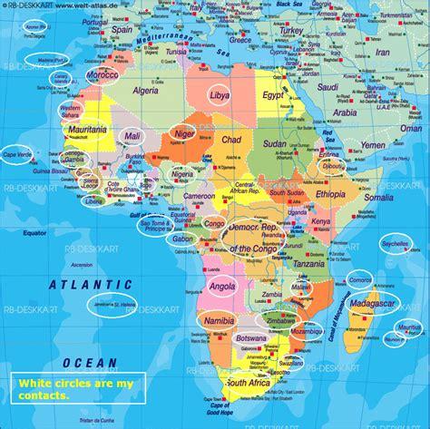 africa map updated map update worldwidedx radio forum