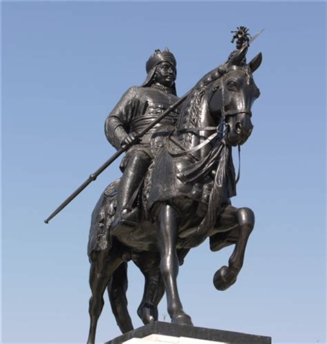 maharana pratap, king of udaipur on his legendary horse