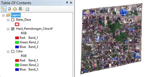tutorial arcgis lengkap cara memotong peta di arcgis untuk data citra atau raster