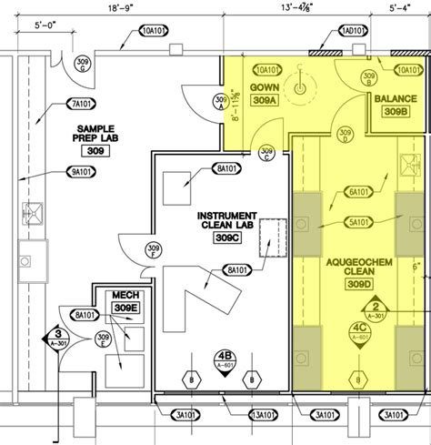 lab floor plan low temp geochem facilities