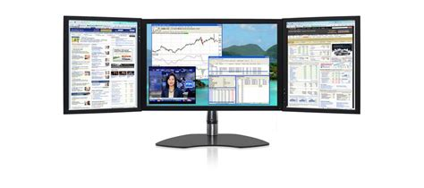 ultraflex powertrio  triple screen display  center