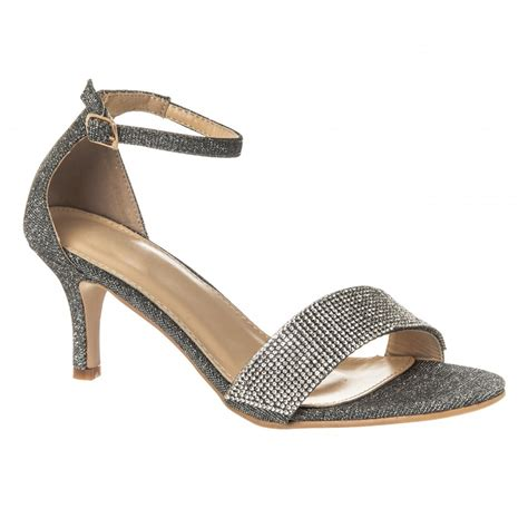 low heel sandals diamante sandal with low kitten heel ankle