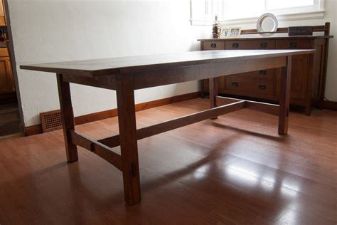 Arts And Crafts Dining Room Table Arts Crafts Dining Table By Flossy Lumberjocks Woodworking Community