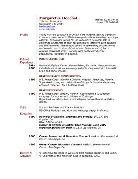Free Resume Samples Examples resume examples example of resume by easyjob the best free example