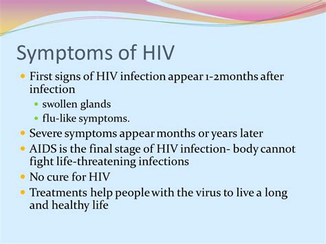 symptoms of hiv aids infection human sexuality dr aseni gammila ppt video online