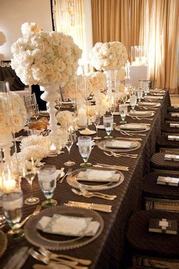 Real wedding: an elegant, sophisticated glam   Inspiring