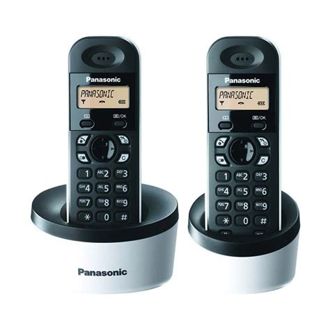Telepon Wireless Cordless Panasonic Kx Tg 1612 jual panasonic cordless phone kx tg1312 telepon tanpa kabel 2 handsets harga