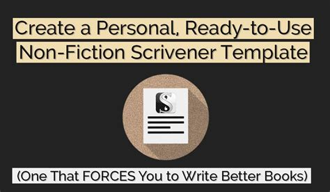 scrivener non fiction book template create a personal ready to use non fiction scrivener