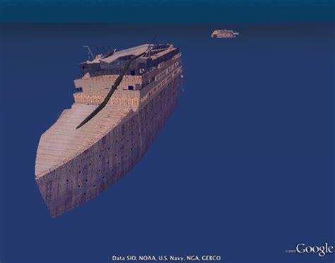 titanic wreck in 3d in google earth 5 google earth blog