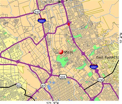 san jose demographics map 95131 zip code san jose california profile homes