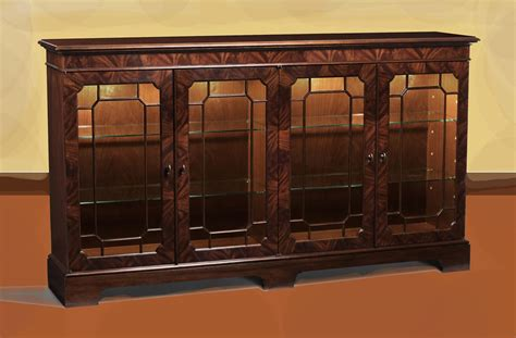 Oval Back Dining Room Chairs by Mahogany Sideboard Display Cabinet Paned Glass Doors