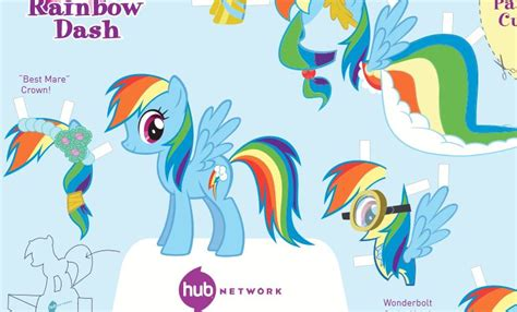 Rainbow Dash Papercraft - equestria daily mlp stuff rainbow dash paper cut out