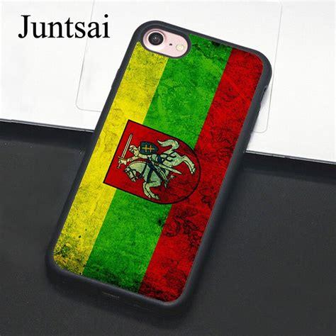 juntsai vintage lithuania lithuanian flag phone case