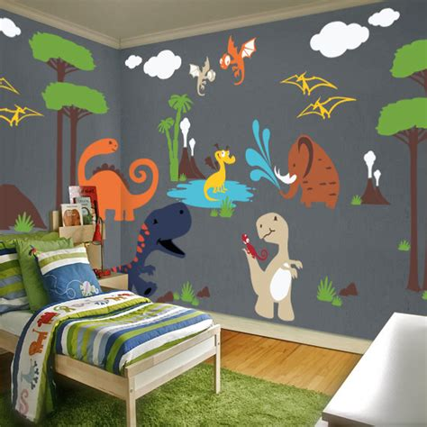 dinosaur land playroom wall decal contemporary