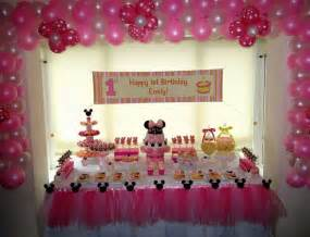 Baby Shower Beach Theme Decorations Minnie Mouse 1st Birthday Ideas Decorating Of Party