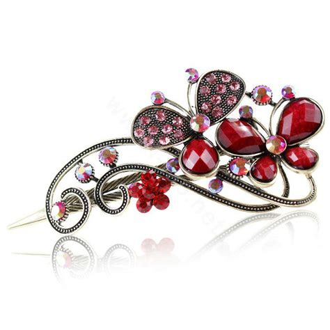 Rhinestone Retro Hair Clip buy wholesale rhinestone butterfly retro hairpin