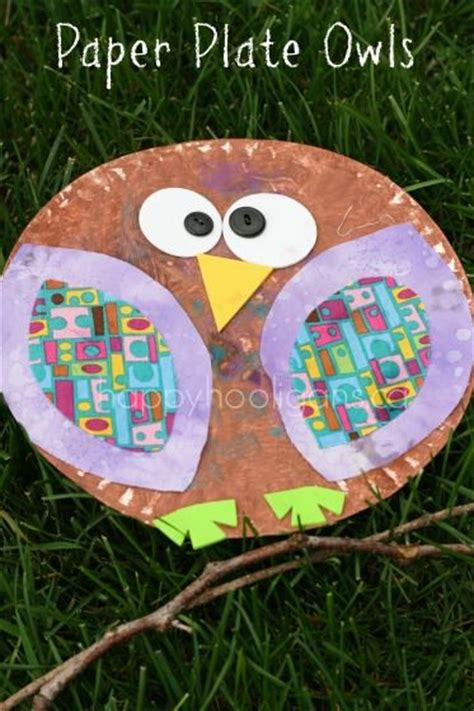 Paper Plate Owl Craft - paper plate owls happy hooligans fall crafts for