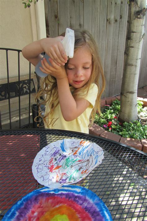 easy craft idea tie dye paper evolving motherhood