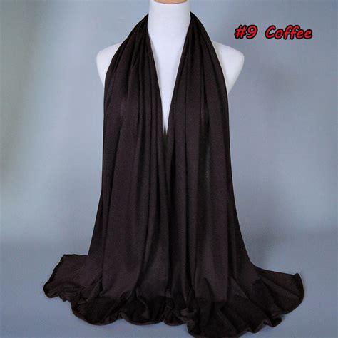 Pashmina Monochrom 2 kilimall c000383 chiffon muslim scarf shawl wrap foulard plain solid colour 3 1069288