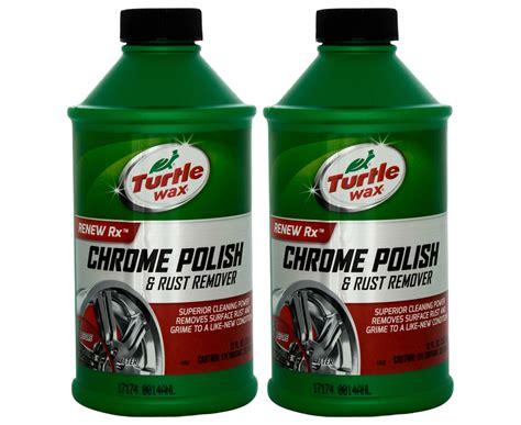Chrome Rust Remover Turtle Wax Original 2 x turtle wax chrome rust remover 355ml
