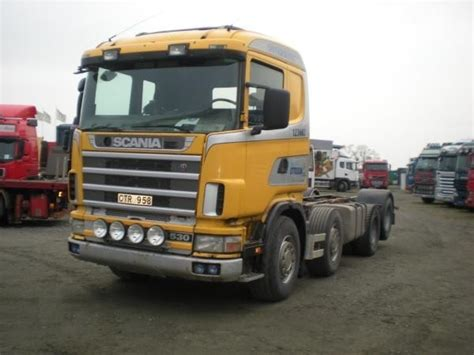 scania 144 8x2 cab chassis truck from sweden for sale at