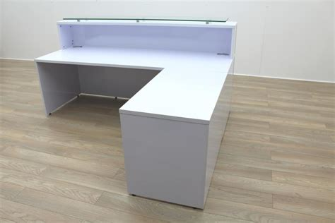 Ebay Reception Desk Reception Desk Ebay Mocha Finish Reception Desk With Textured Glass Ebay Used Reception Desk