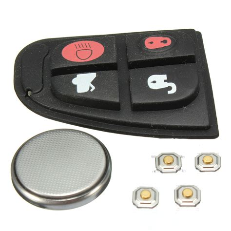 jaguar key fob battery remote key fob repair kit rubber pad w battery for
