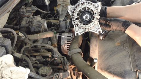 ford   engines alternator replacement youtube