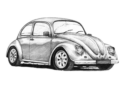 volkswagen bug drawing vw beetle california style by inspired imaging