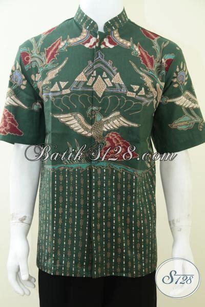 Baut L Kerucut Warna Hijau hem batik kerah shanghai warna hijau bahan bagus motif bagus jahitan rapih ld1742tk l