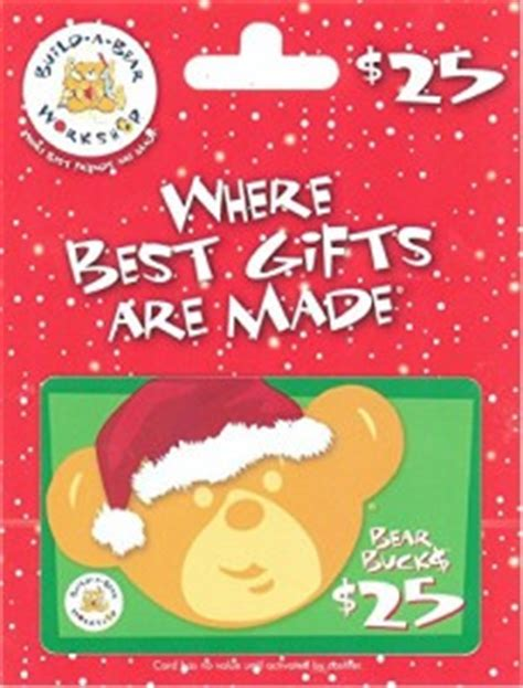 Build A Bear Gift Card - christmas wish list 5 year old girl