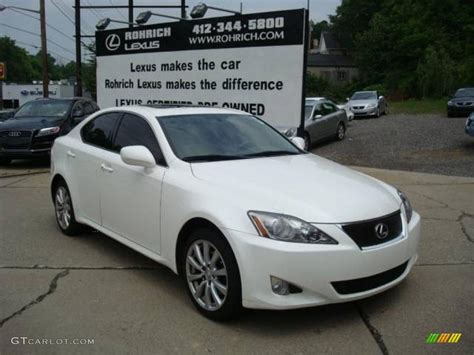 white lexus is 250 interior 2006 white lexus is 250 awd 12131467 gtcarlot