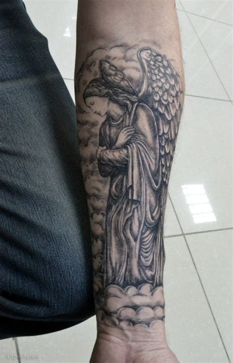 angel tattoo on forearm 110 best guardian tattoos designs meanings 2018