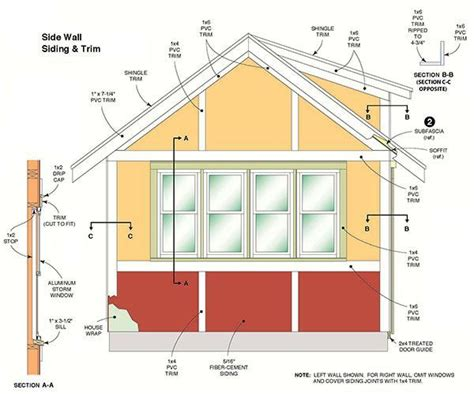 How To Build Gambrel Roof 12 215 16 storage shed plans amp blueprints for large gable shed