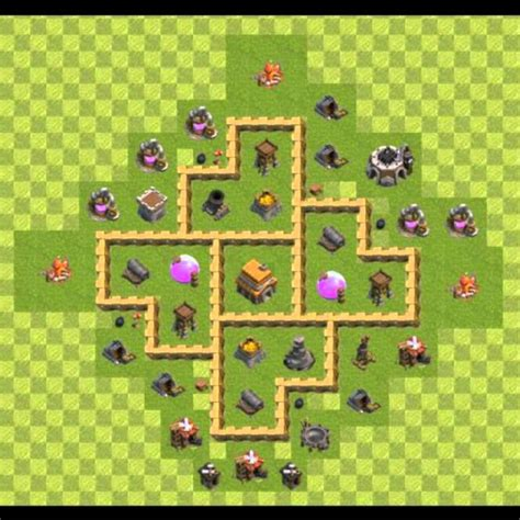 layout coc cv 5 clash of clans dicas monte seu layout cv 5 youtube