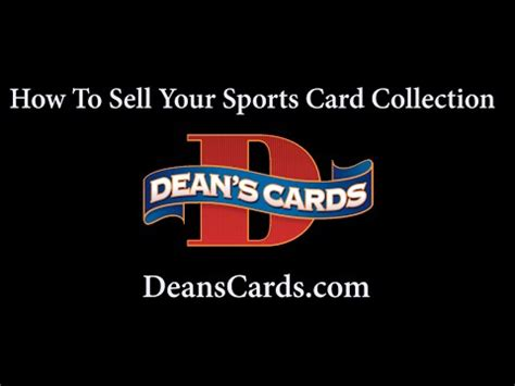 how to sell your dean s cards how to sell your baseball card collection youtube