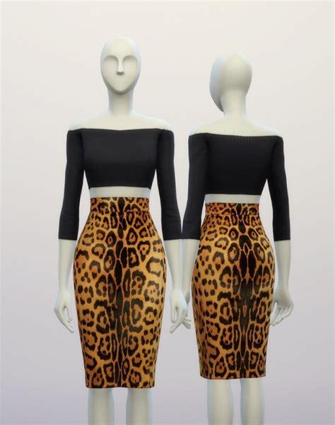 design clothes sims 4 basic high waist h line pencil dress designer pattern at