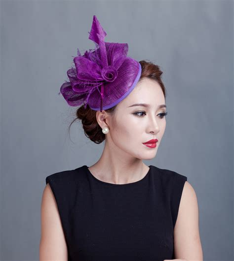 Fashion Hair Accecories A50177 2016 style sinamay feather hat hair accessories flower fascinator clip