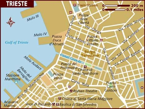 triest map map of trieste
