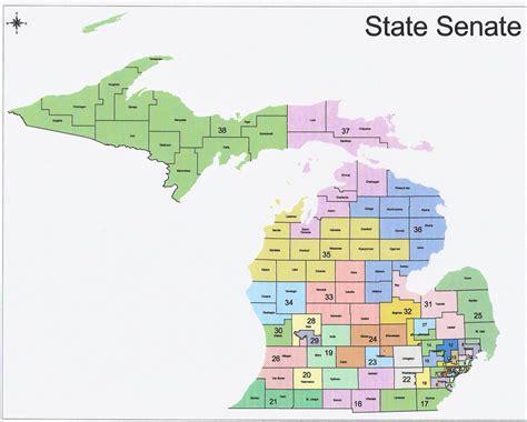 state senate district map michigan redistricting republican state senate map