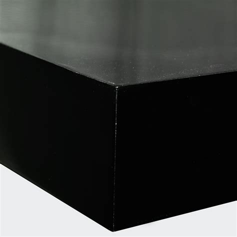 40cm Floating Shelf by Gloss Wall Mounted 40cm Floating Shelf Pack Of Two Black Watson S On The Web Furniture