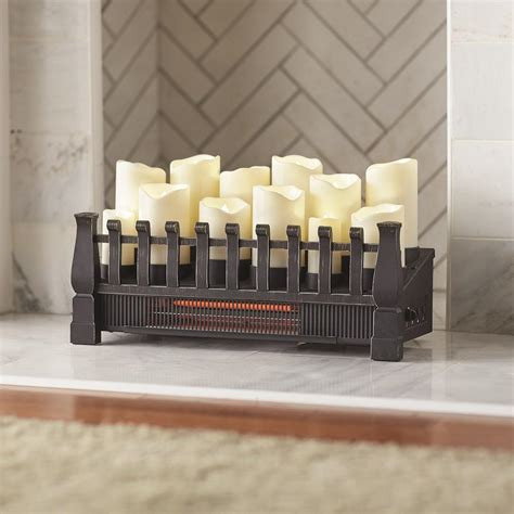 candle fireplace insert home decorators collection brindle flame 20 in candle