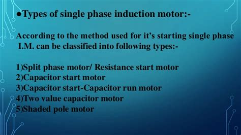 capacitor start capacitor run motor ppt types of single phase induction 28 images induction type meters electrical4u induction type