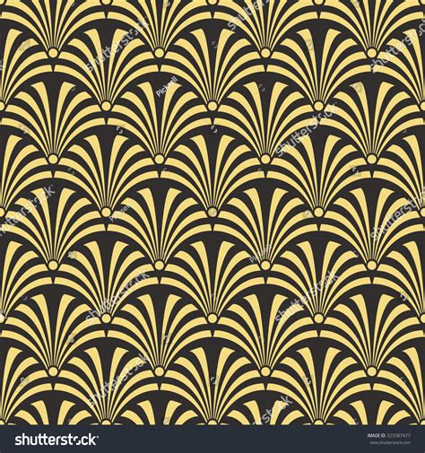 design pattern most used seamless antique palette black and gold luxury art deco