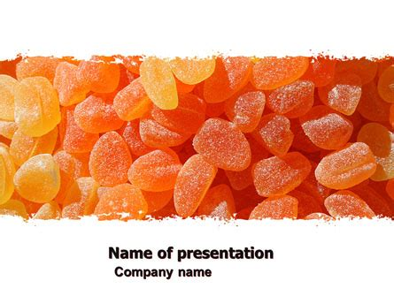 Jelly Template by Fruit Jelly Free Powerpoint Template Backgrounds 05543