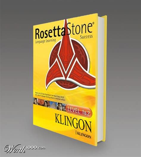 rosetta stone books now you can learn to speak klingon with rosetta stone